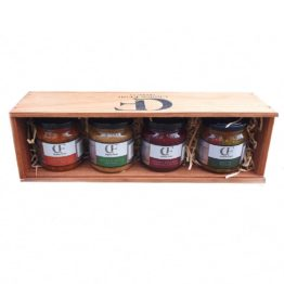 Wooden Gift Box - Chutney/Pickle Set